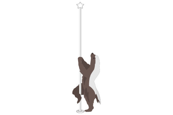 Download Free Honey Badger Pole Dancing Archivos De Corte Svg Por Creative for Cricut Explore, Silhouette and other cutting machines.