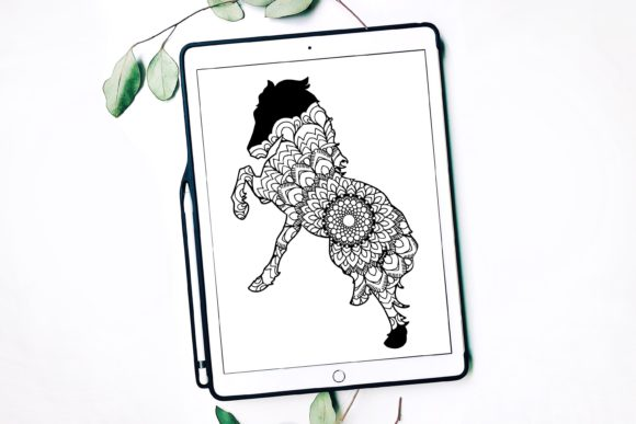 Horse Mandala Graphic Print Templates By Fortuna Prints