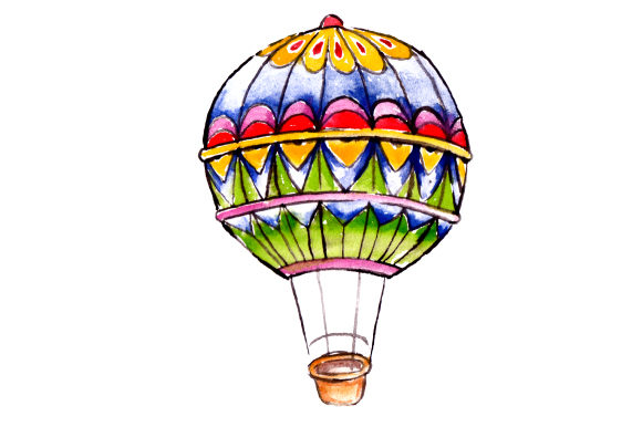 Download Free Hot Air Baloon In Watercolor Svg Cut File By Creative Fabrica for Cricut Explore, Silhouette and other cutting machines.