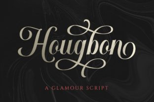 Print on Demand: Hougbon Script & Handwritten Font By letterhend