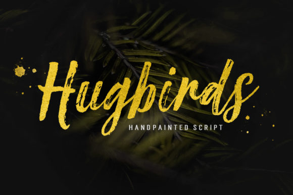 Hugbirds Manuscrita Fuente Por Stripes Studio