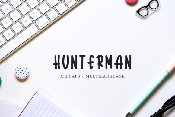Hunterman Display Font By Arendxstudio