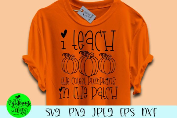 Download Free I Teach The Cutest Pumpkins Graphic By Midmagart Creative Fabrica for Cricut Explore, Silhouette and other cutting machines.
