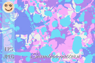 Print on Demand: Ink Splashes Camo Seamless Pattern Graphic Patterns By TasiPas