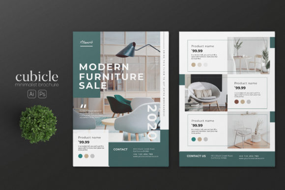 Download Free Interior Design Ai And Psd Flyer Graphic By Alexacrib83 for Cricut Explore, Silhouette and other cutting machines.