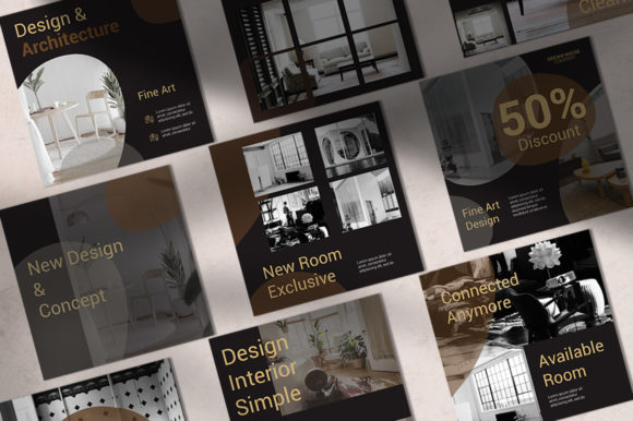 Interior Instagram Templates Graphic Websites By qohhaarqhaz - Image 3