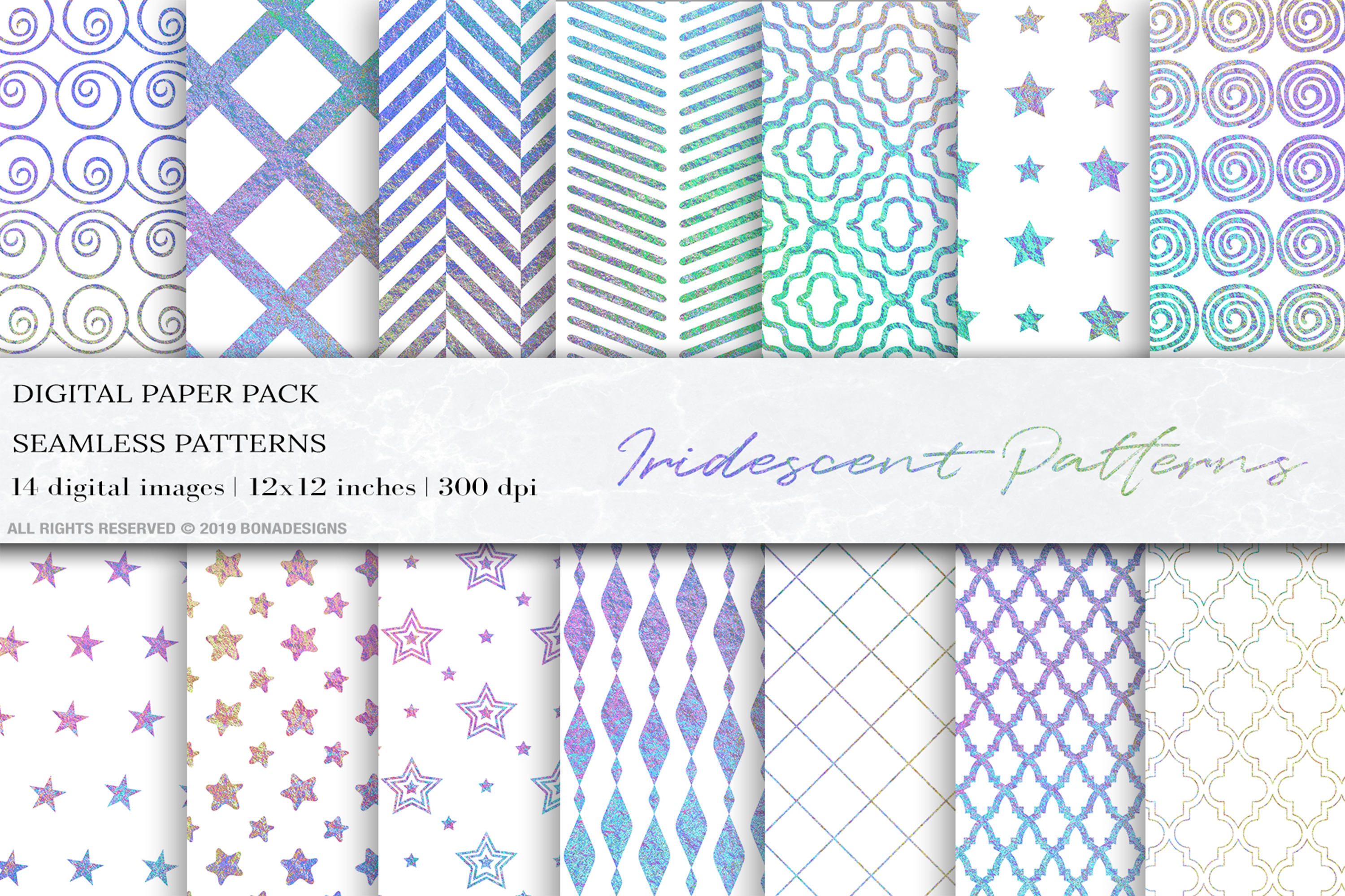 Download Free Iridescent Glitter Seamless Patterns Graphic By Bonadesigns for Cricut Explore, Silhouette and other cutting machines.