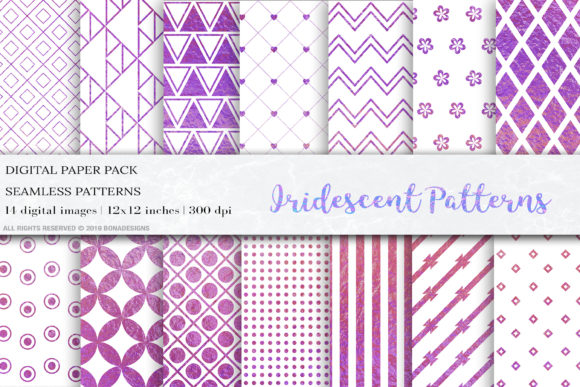 Download Free Iridescent Seamless Patterns Geometric Graphic By Bonadesigns for Cricut Explore, Silhouette and other cutting machines.