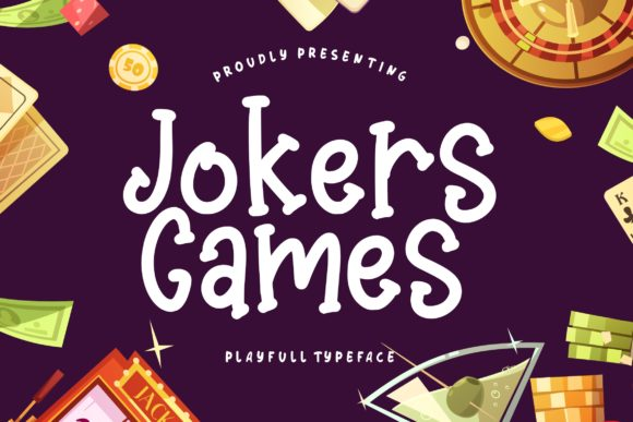 Print on Demand: Jokers Games Display Font By CreatypeStudio