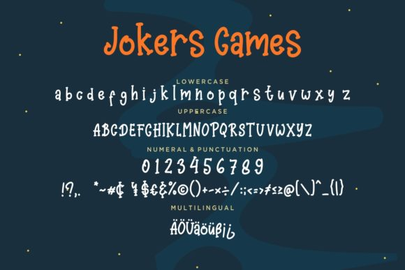 Print on Demand: Jokers Games Display Font By CreatypeStudio - Image 7