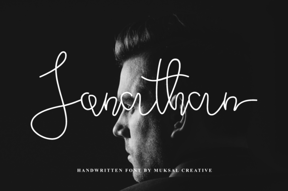 Print on Demand: Jonathan Script & Handwritten Font By Muksal Creative - Image 1