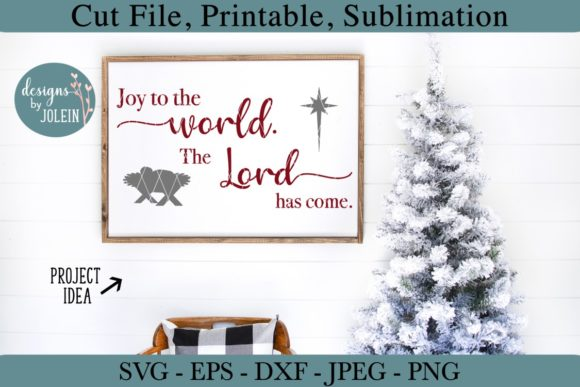 Download Free Joy To The World Graphic By Designs By Jolein Creative Fabrica for Cricut Explore, Silhouette and other cutting machines.