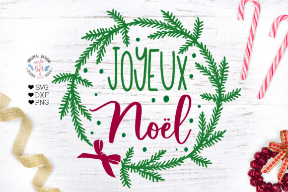Download Free Joyeux Noel Cut File Graphic By Graphichousedesign Creative for Cricut Explore, Silhouette and other cutting machines.