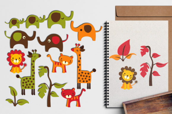 Print on Demand: Jungle Animals Graphic Illustrations By Revidevi - Image 1