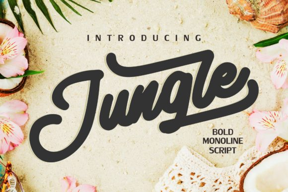 Print on Demand: Jungle Script & Handwritten Font By Vunira
