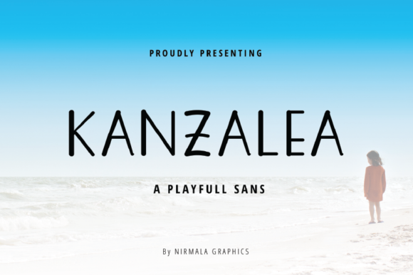 Print on Demand: Kanzalea Script & Handwritten Font By nirmala.graphics