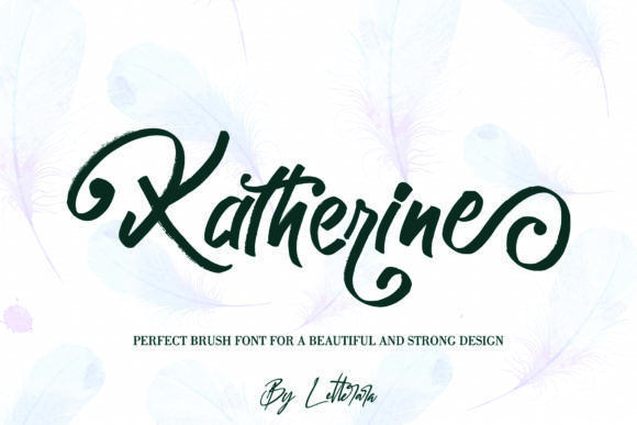Print on Demand: Katherine Script & Handwritten Font By thomasaradea