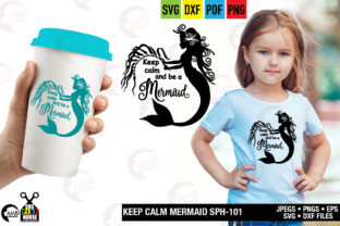 Keep Calm and Ba a Mermaid Graphic By AMBillustrations