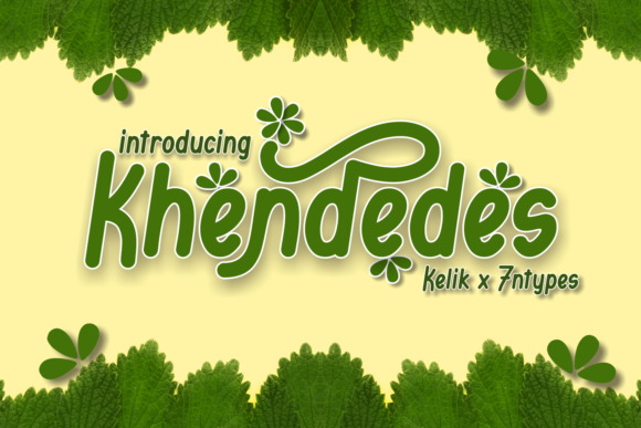 Print on Demand: Khendedes Display Font By Kelik - 7NTypes - Image 1
