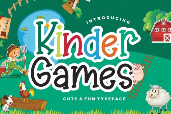 Kinder Games Font By CreatypeStudio Image 1