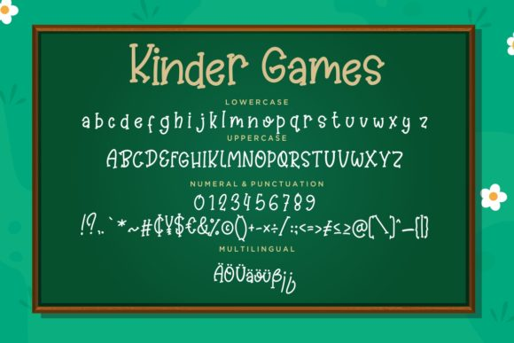 Kinder Games Font By CreatypeStudio Image 7