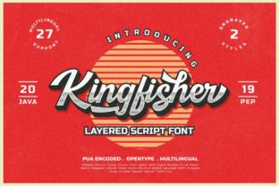 Kingfisher Font By JavaPep