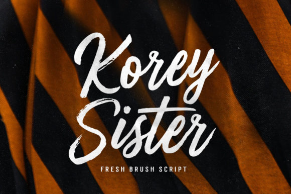 Print on Demand: Korey Sister Script & Handwritten Font By Dhan Studio