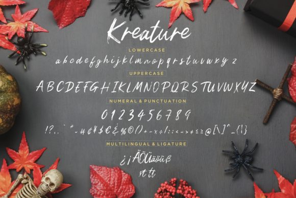 Print on Demand: Kreature Script & Handwritten Font By CreatypeStudio - Image 7
