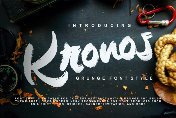 Print on Demand: Kronos Script & Handwritten Font By Vunira