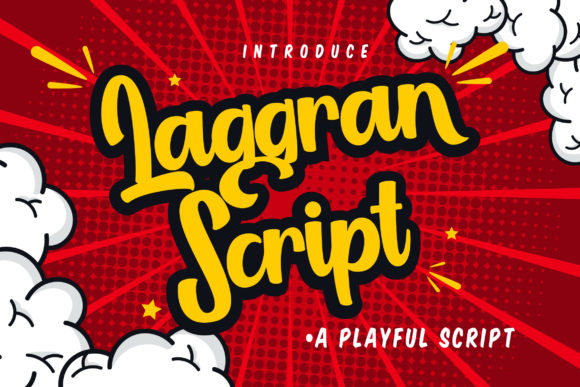Print on Demand: Laggran Script & Handwritten Font By Vunira - Image 1