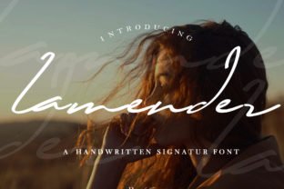 Print on Demand: Lamender Script & Handwritten Font By khaiuns