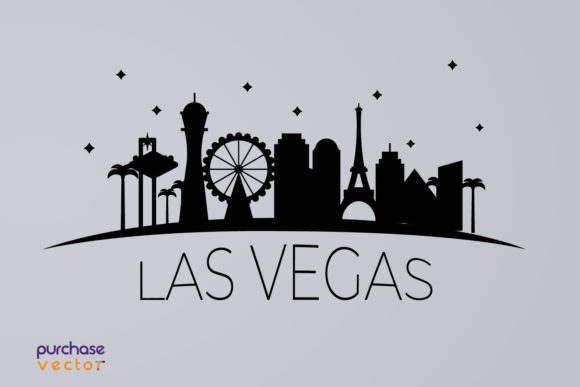 Download Free Las Vegas Skyline Graphic By Purchasevector Creative Fabrica for Cricut Explore, Silhouette and other cutting machines.