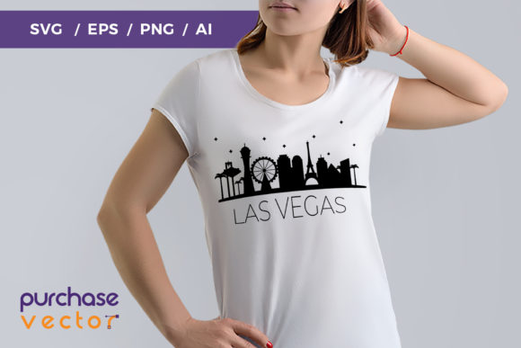 Las Vegas Skyline Cut File Graphic Crafts By purchasevector