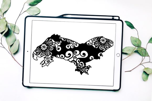 Leachie Gecko Mandala Graphic Print Templates By Fortuna Prints