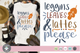 Leggings Leaves and Lattes Graphic By thejaemarie