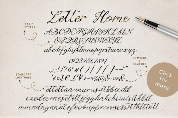 Letter Home Font By Red Ink Image 18