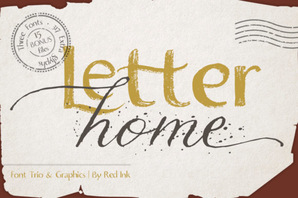 Letter Home Font By Red Ink Image 1