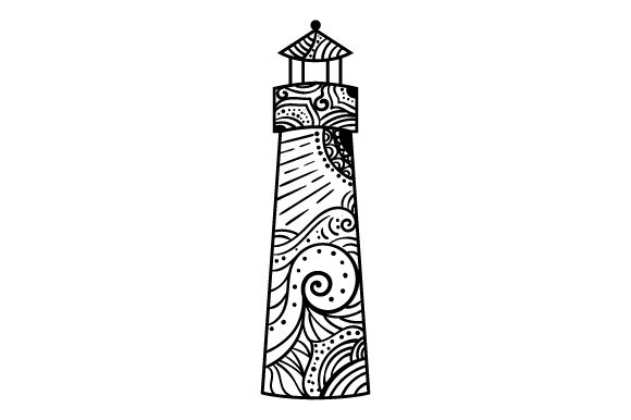 Download Free Lighthouse Mandala Style Svg Cut File By Creative Fabrica for Cricut Explore, Silhouette and other cutting machines.