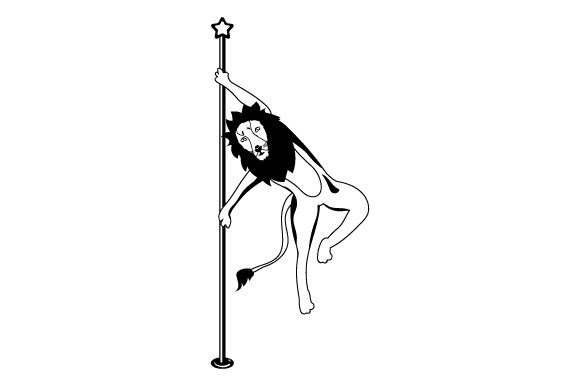 Download Free Lion Pole Dancing Svg Cut File By Creative Fabrica Crafts for Cricut Explore, Silhouette and other cutting machines.