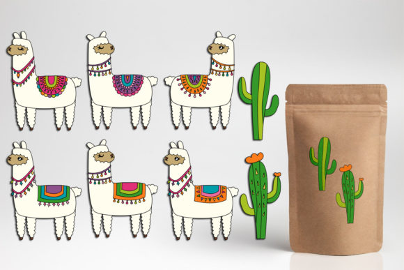 Print on Demand: Llama Unicorn Bundle Graphic Illustrations By DarraKadisha - Image 13