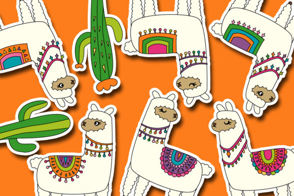 Print on Demand: Llama Unicorn Bundle Graphic Illustrations By DarraKadisha - Image 8