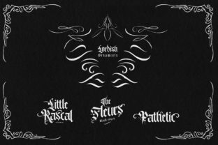 Print on Demand: Lordish Blackletter Font By creativemedialab 7