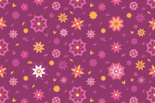 Download Free Lotus Flower Seamless Pattern Background Graphic By Superzizie for Cricut Explore, Silhouette and other cutting machines.