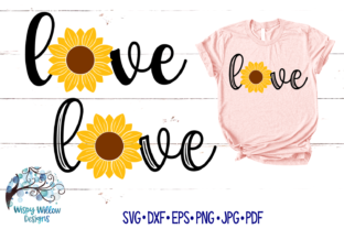 Love Sunflower Fall Graphic By WispyWillowDesigns