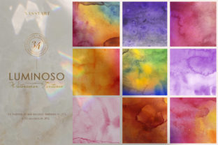 Luminoso Watercolor Textures Graphic By NassyArt