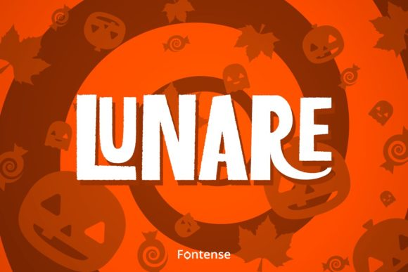Print on Demand: Lunare Display Font By themesocio