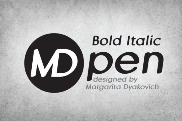Print on Demand: MD Pen Bold Italic Sans Serif Font By Margarita Dyakovich - Image 1