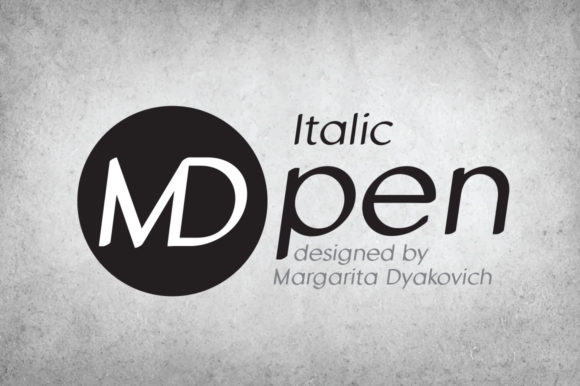 Print on Demand: MD Pen Italic Sans Serif Font By Margarita Dyakovich