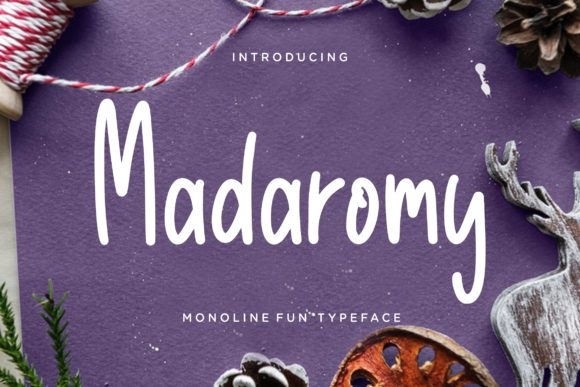 Print on Demand: Madaromy Display Font By CreatypeStudio