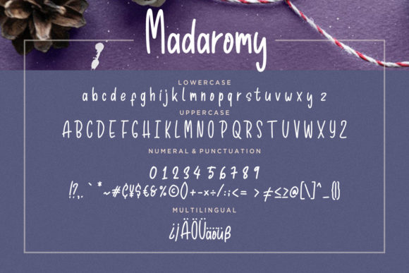 Print on Demand: Madaromy Display Font By CreatypeStudio - Image 7